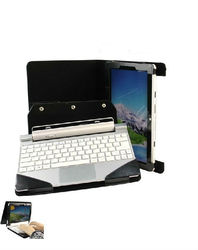 For Acer Iconia Tab W510 Portfolio Leather Cover Stand Case w/ Keyboard Holder