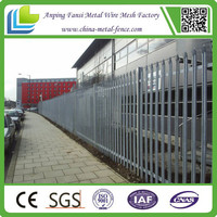 Aliexpress 2.2m high galvanised curved D sections palisade fencing