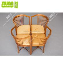 2202 modern design wood saucer chair
