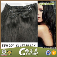 2015 Hot Sale New Design Verified Supplier 260g Remy Double Drawn afro clip in hair extension