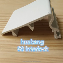 anti ultraviolet radiation/heat insulation/waterproof plastic pvc extruded profile for windows&doors use export to Africa