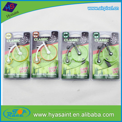 Customize aroma bicycle shape vent clips air freshener for car