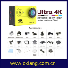 4K Action Camera Underwater Submarine Camera With Treble Shot Function And Wifi Function