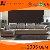 Customized Latest European style fabric corner sofa