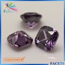 Facets Gems Loose Zirconia Gemstones Cushion Cut Brazil Amethyst Stones Rough