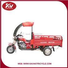 Kavaki Brand 150cc 200cc 250cc 300cc Petrol/Gasoline China Cargo Tricycles For Transportation