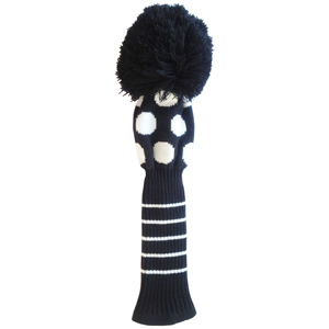 acrylic free knitted pattern golf club cover, View golf club cover
