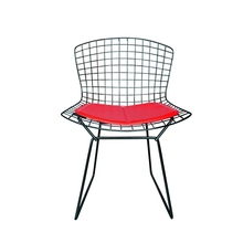 Harry bertoia side wire chair with seat cushion