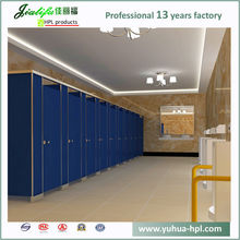 nylon hardware and light gray hpl panel toilet partition door
