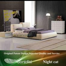 high quality italian leather sofa bed in beige EEAY281