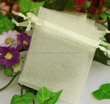 Gift Case Use Light Color China Supply Rectangle Easy Taken Light Weight Organza Pouch