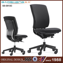 GS-G512C folding office chair with wheels, acrylic lucite swivel office chair