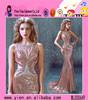Fashion Deep-V neckline Evening Dress In China Sleeveless Shining Mermaid Evening Dress In China