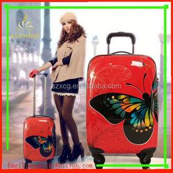 E554 Top Sale animal print abs luggage