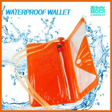 PVC waterproof burse/mobile phone wallet case for youngster