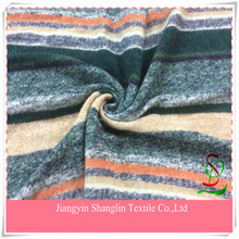 Fashion stripe wool knit fabric for coats