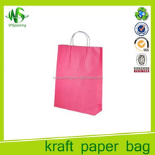 Popular customed logo plain craft shopping bags hot sale