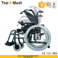 TopMedi folding Aluminum handicapped power electric wheelchair prices for disabled people detachable battery