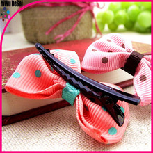 Wholesale Beautiful Baby girl fabric butterfly knot hair clip