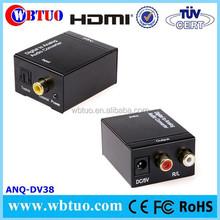 Optical SPDIF Coaxial Digital to RCA L/R Analog Audio Converter