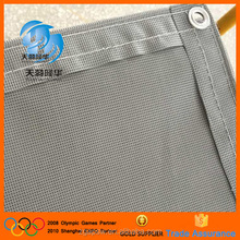 Gray knitted safety barrier net