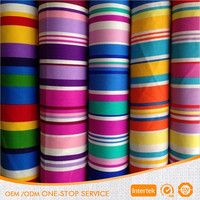 100 cotton printed multicoloured stripe canvas fabric