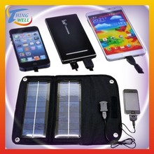 Compact cell charger of mobile solar panel