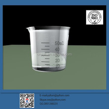 Ex-factory price supply 50 ml transparent plastic cups, oil cup, can print LOGO and scale