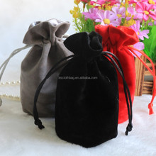 High Quality Stock and Custom Jewelry Velvet Bag/Gift Suede Velvet Pouch/Flocking Bags