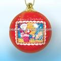 vermelho de natal pintura bola de espuma natal bola