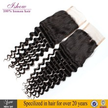 New Arrival Free Part Brazilian Deep Wave Lace Closure With Baby Hair
