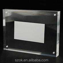 2015 customized high quality acrylic magnetic photo frame