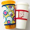 Newly Coffee cup sleeve,coffee cup cooler,silk printing and heat transfer pringting neoprene cup sleeve