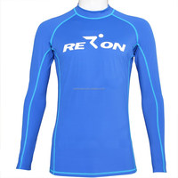 wholesale professional UV protection SPF50+ custom made long sleeves nylon spandex rash guards
