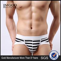 MGOO Custom Made European Boys Underwear Stripe Boxer Brief For Man Penis Sexy Jocks ckcm01