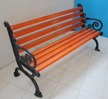 City construction outdoor waterproof composite cast iron garden bench