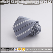 High Quality 100% Multicolored Striped Polyester Necktie