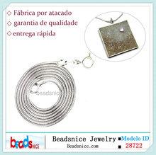 Beadsnice ID 28722 925 prata esterlina jóias por atacado italiano 1 milímetro de corrente de cobra 18 polegadas colar de prata