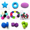 bpa free food grade silicone beads topaz beads donuts