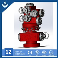 Integral API Christmas tree for oil and gas field wellhead assembly