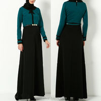 wholesale dubai fashion abaya 2014 green and black long dubai kaftan