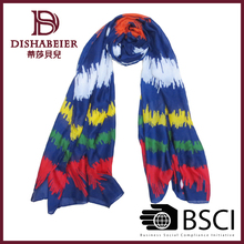 2014 Wholesale fashion design custom stripe printed scarf