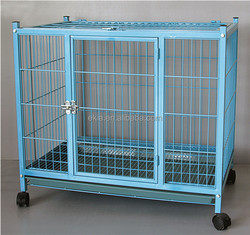China Factory Made Durable Iron Dog Cage With Wheels For Sale