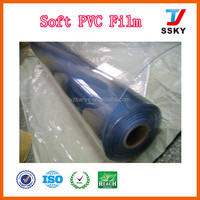 Super clear transparent soft pvc sheet film in roll for bag making manufacturer
