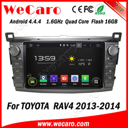 "Wecaro Android 4.4.4 car dvd player touch screen 8"" car audio system for toyota rav4 mirror link 2013 2014"