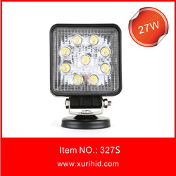 big sale led 27w work light, led worklight 27w for fog driving , 27w led work lamp square