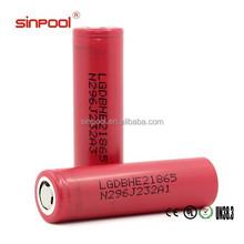 High quality high drain lg he2 18650 2500mah battery 35a 18650 battery li-polymer battery 3.7v 1500mah