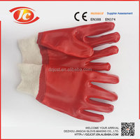 """Smooth finished 10"""" PVC athletic works weight lifting gloves"""
