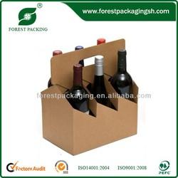 6 BOTTLE WINE CARDBOARD BOTTLE CARRIER FP801452