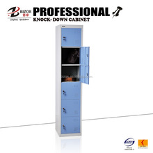 China supplier 6 door gym steel chest with cyber lock